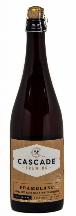Buy Cascade Framblanc Barrel Aged Blond w/ White Raspberries 750ml Online