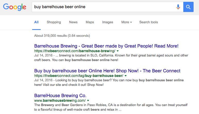 craft beer sellers