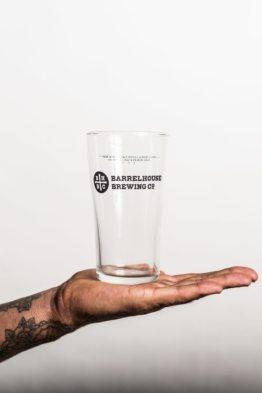 BarrelHouse 16oz Midland Pint Glass with Bottom Nucleation
