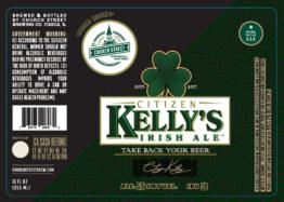 The Church Street Brewing Company Citizen Kelly Irish Ale