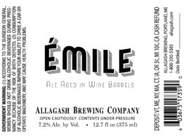 Buy Allagash Emile 375ml LIMIT 1 Online